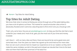 Adult Dating Pros