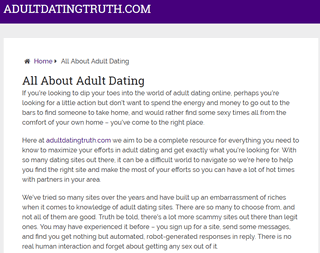 Adult Dating Truth