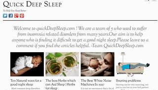 Quick Deep Sleep