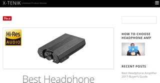 Share the information of headphone amplifier, hi-res audio player