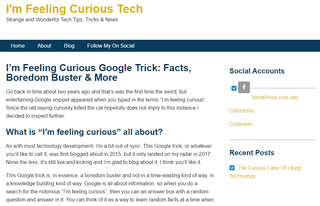 Imfeelingcuriousblog.com