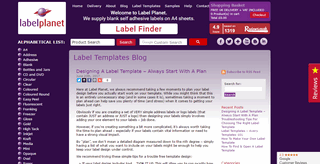 Label Planet's Templates Blog