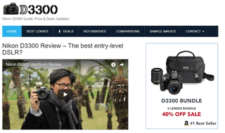 Nikon D3300 DSLR Review, Bundle & Deals