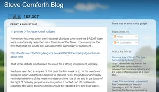 Steve Cornforth Blog