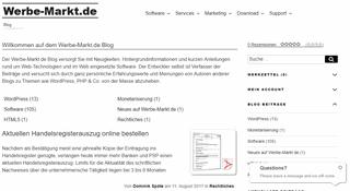 Webmaster-Tipps und News zu PHP-Softwarelösungen von Werbe-Markt.de