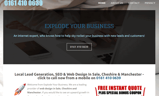 Explode Your Business - Web Design In Sale