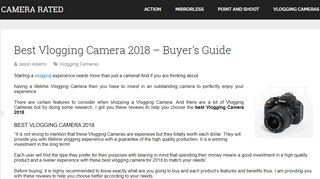 Best Vlogging Camera 2018