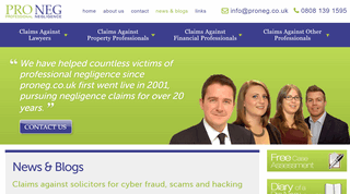 News & Blogs Written by Professional Negligence Solicitors
