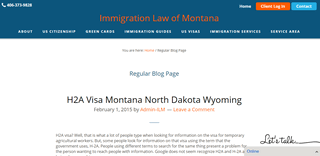 Immigration Law of Montana Blog