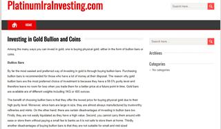 Platinum IRA Investing
