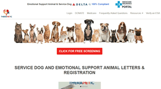 Service Dog - Emotional Support Animal Registration