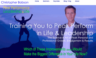 Peak Performance Leadership Professional & Personal Development