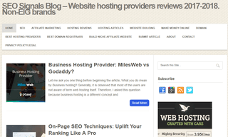 SEO Signals Blog - Webhosting providers reviews. SEO Tips