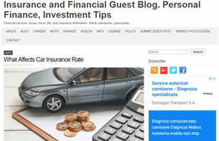 Insurance and Financial Guest Blog. Personal Finance, Investment Tips
