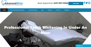 Professional Teeth Whitening - A Brighter Whiter Smile in Under an Hour