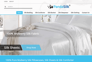 Panda Silk Bedding