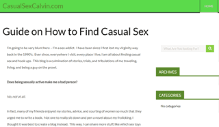 Casual Sex Calvin Offers Hook Up Advice for Adults