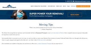 Moving Tips - Local removalists in Perth