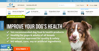 Miracle Vet pet health supplements and dog food