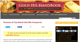 Gold IRA Handbook - The Ultimate Review Guide