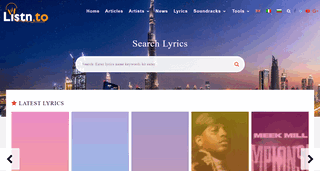 Listn - Music articles, news and artists