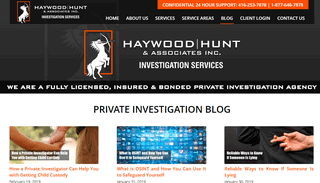 Haywood Hunt & Associates Inc. Private Investigations Blog