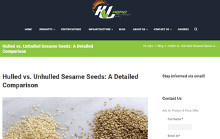Hulled vs. Unhulled Sesame Seeds: A Detailed Comparison