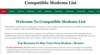 CompatibleModemsList.com