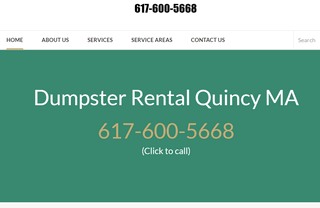 Dumpster Rental Quincy MA