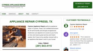 Cypress Appliance Repair