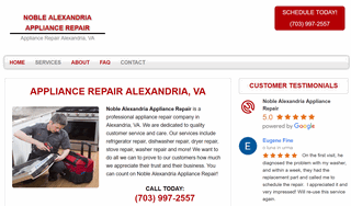 Noble Alexandria Appliance Repair