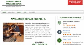 Same-Day Skokie Appliance Repair