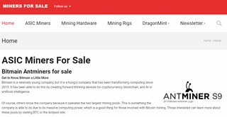 Miners For Sale
