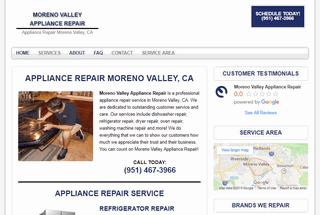 Moreno Valley Appliance Repair