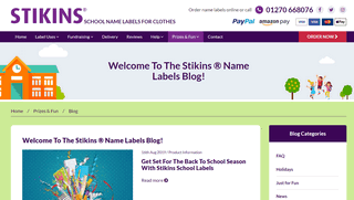 Stikins Name Labels Blog
