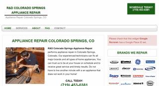 R&D Colorado Springs Appliance Repair