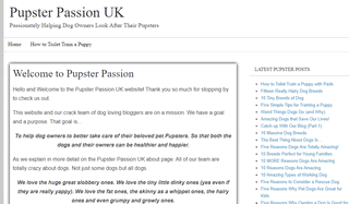 The Pupster Passion UK Doggy Blog