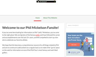 Phil Mickelson Fan Website