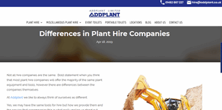 Know the difference between Plant Hire Companies