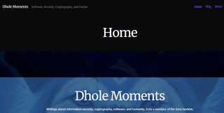 Dhole Moments