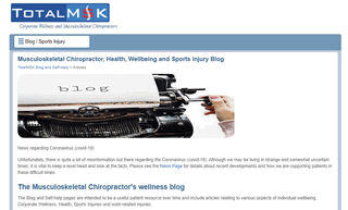 Musculoskeletal health, wellbeing and sports injury blog