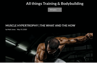 All things training and bodybuilding