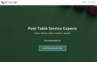 Pool Table Repair DC