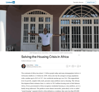 Solving the Housing Crisis in Africa