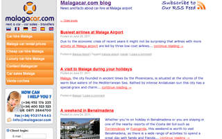 Malaga airport and car hire