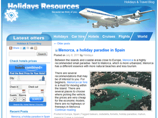 Holiday and travel blog