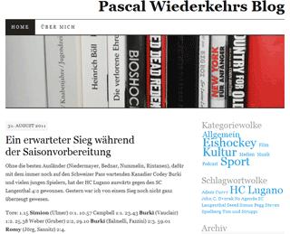 Pascal Wiederkehrs Blog